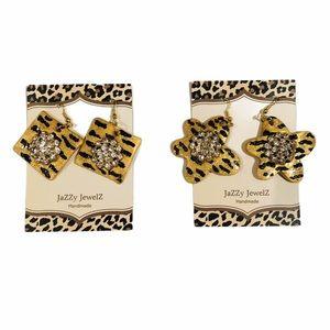 Tiger Frenzy by Jazzy Jewelz Tiger Print Earrings